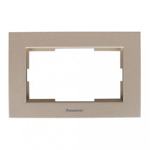 Рамка для 2-й розетки бронза Panasonic Karre plus (WKTF08092BR-BY)