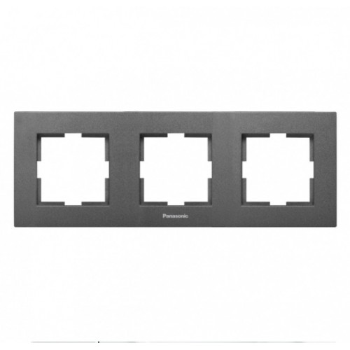 Рамка 3-постовая дымчатый Panasonic Karre plus (WKTF08032DG-BY)