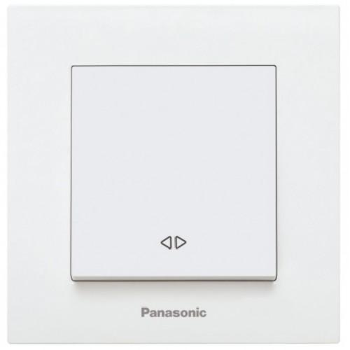 Выключатель 1-кл перекрестный (без рамки) белый Panasonic Karre plus (WKTT00052WH-BY)