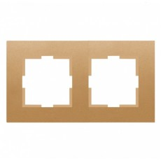 Рамка 2-постовая бронза