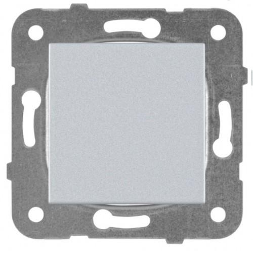 Выключатель 1-кл серебро Panasonic Karre plus (WKTT00012SL-BY)