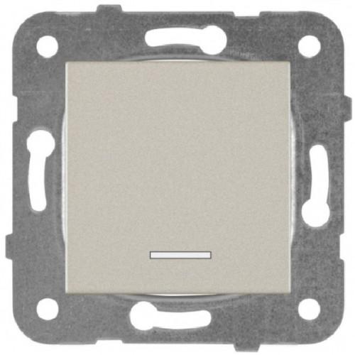 Выключатель 1-кл с индикацией бронза Panasonic Karre plus (WKTT00022BR-BY)