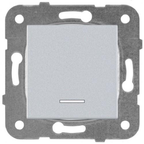 Выключатель 1-кл с индикацией серебро Panasonic Karre plus (WKTT00022SL-BY)