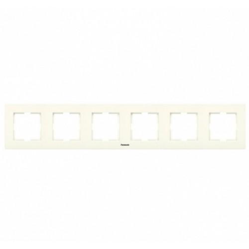 Рамка 6-постовая кремовая Panasonic Karre plus (WKTF08062BG-BY)