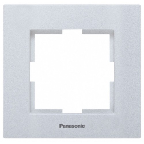 Рамка 1-постовая серебро Panasonic Karre plus (WKTF08012SL-BY)