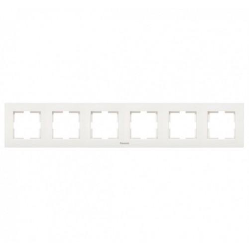Рамка 6-постовая белая Panasonic Karre plus (WKTF08062WH-BY)