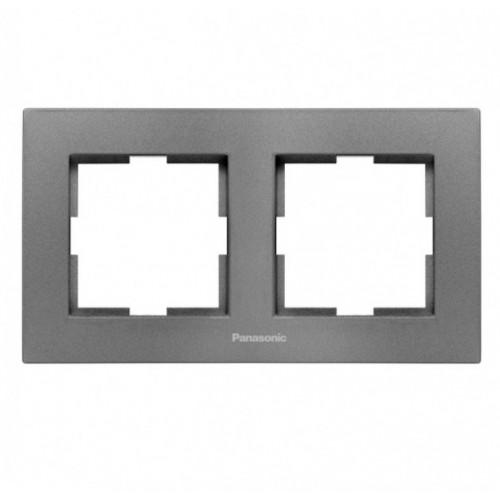 Рамка 2-постовая дымчатый Panasonic Karre plus (WKTF08022DG-BY)