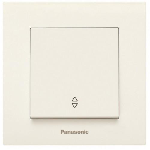 Выключатель 1-кл проходной (без рамки) кремовый Panasonic Karre plus (WKTT00032BG-BY)