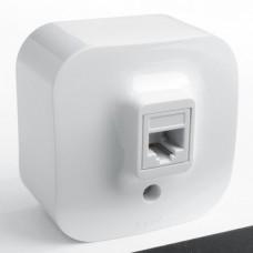 Розетка компьютерная белая наружная