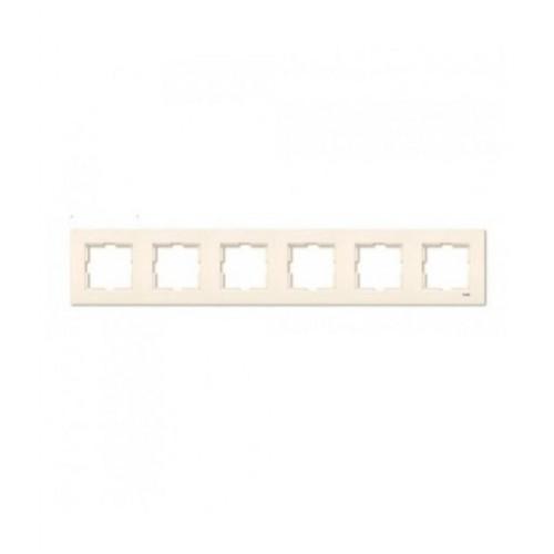 Рамка*6 универсальная кремовая  Viko Karre (90960215)
