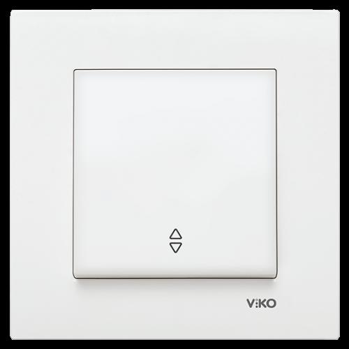 Вык-ль 1-кл проходной (без рамки) белый  Viko Karre (90963604)