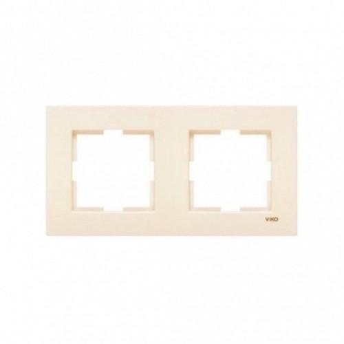 Рамка*2 универсальная кремовая  Viko Karre (90960211)