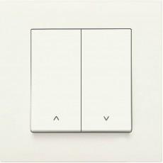 Выключатель 2-кл для жалюзи (без рамки) белый