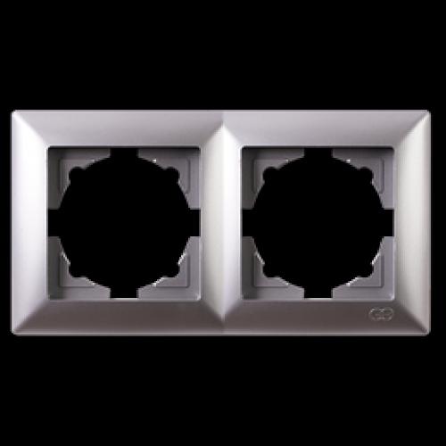 Рамка*2 серебро  Gunsan Visage (01281500-000141)