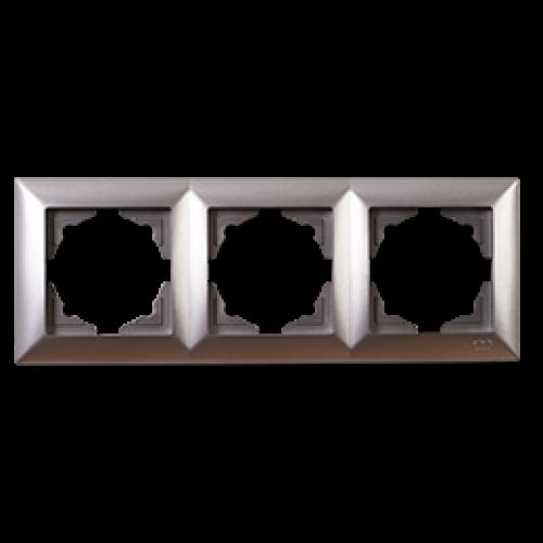 Рамка*3 серебро  Gunsan Visage (01281500-000143)