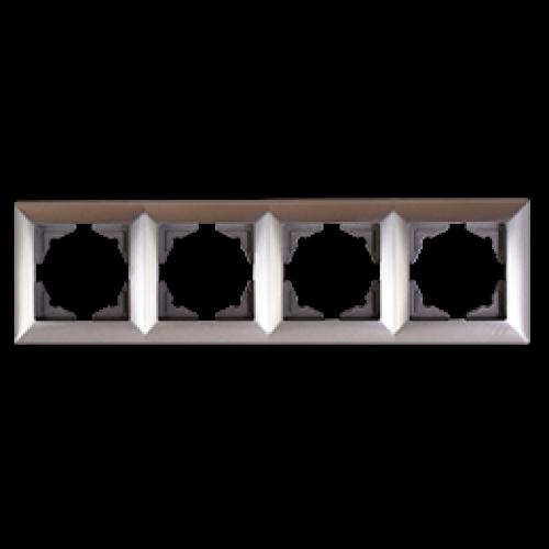 Рамка*4 серебро Gunsan Visage (01281500-000145)