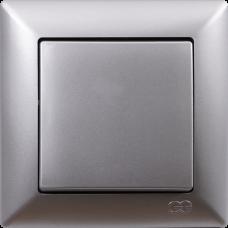 Выключатель 1-кл (без рамки) серебро
