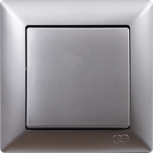 Выключатель 1-кл (без рамки) серебро Gunsan Visage (01 28 15 00 150 101)