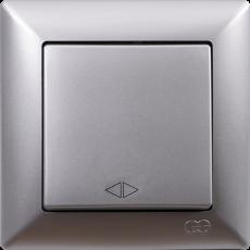 Выключатель 1-кл перекрестный (без рамки) серебро