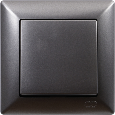 Выключатель 1-кл (без рамки) дымка