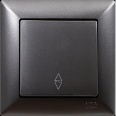 Выключатель 1-кл проходной (без рамки) дымка