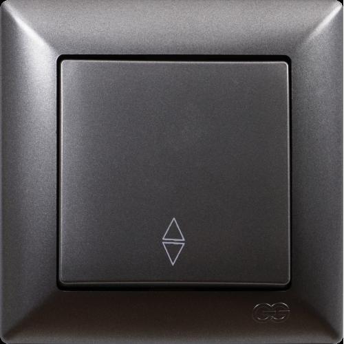 Выключатель 1-кл проходной (без рамки) дымка Gunsan Visage (01281700-150107)