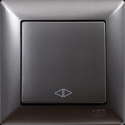 Выключатель 1-кл перекрестный (без рамки) дымка Gunsan Visage (01281700-150135)
