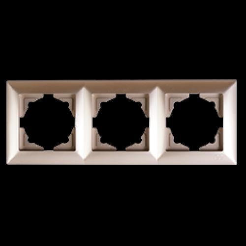 Рамка*3 мет.бежевый  Gunsan Visage (01282500-000143)