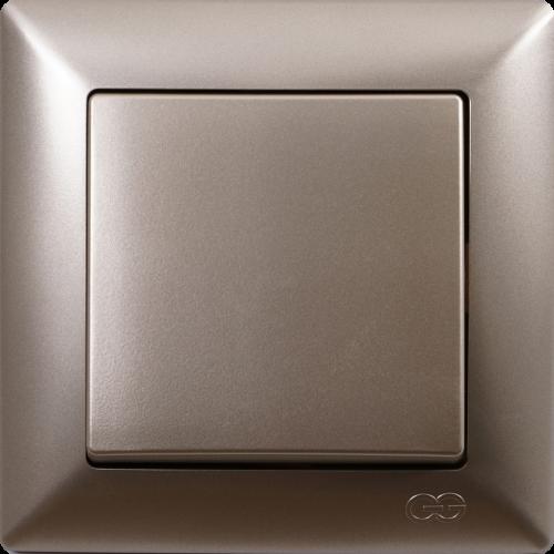 Выключатель 1-кл (без рамки) мет.бежевый  Gunsan Visage (01282500-150101)