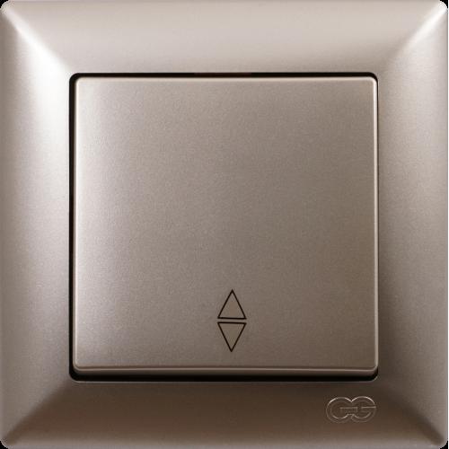 Выключатель 1-кл проходной (без рамки) мет.бежевый Gunsan Visage (01282500-150107)