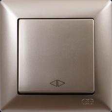 Выключатель 1-кл перекрестный (без рамки) мет.бежевый