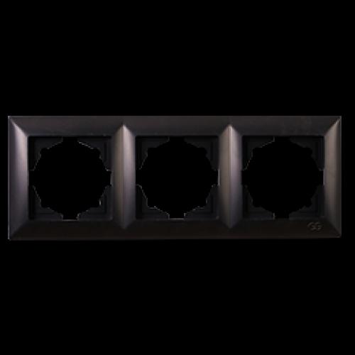 Рамка*3 черная  Gunsan Visage (01283400-000143)