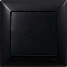 Выключатель 1-кл (без рамки) черный