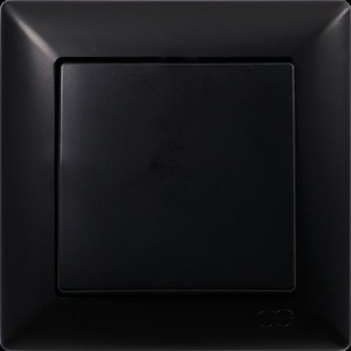 Выключатель 1-кл (без рамки) черный  Gunsan Visage (01 28 34 00 150 101)
