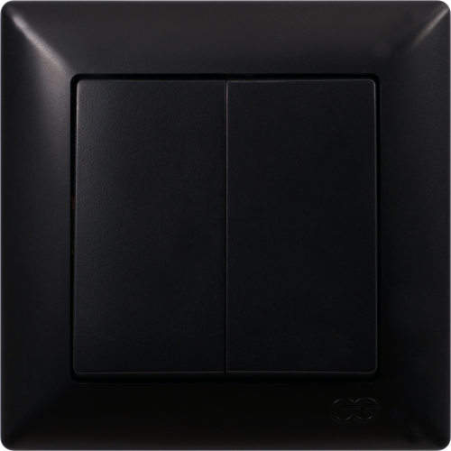 Выключатель 2-кл (без рамки) черный Gunsan Visage (01 28 34 00 150 103)