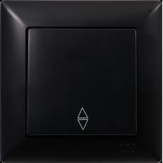 Выключатель 1-кл проходной (без рамки) черный