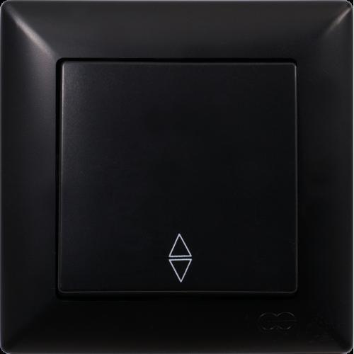 Вык-ль 1-кл проходной (без рамки) черный  Gunsan Visage (01 28 34 00 150 107)