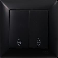 Вык-ль 2-кл проходной (без рамки) черный