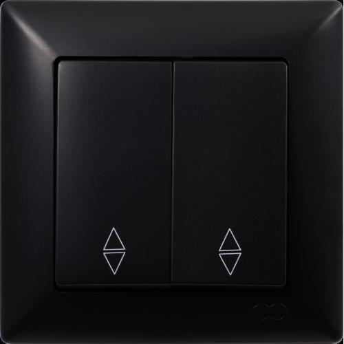 Выключатель 2-кл проходной (без рамки) черный Gunsan Visage (01 28 34 00 150 109)
