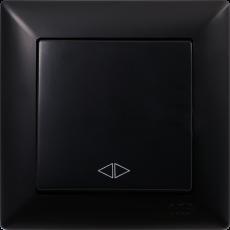 Выключатель 1-кл перекрестный (без рамки) черный