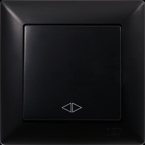 Вык-ль 1-кл перекрестный (без рамки) черный  Gunsan Visage (01 28 34 00 150 135)