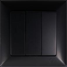 Выключатель 3-кл (без рамки) черный