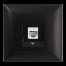 Розетка компьютерная черная