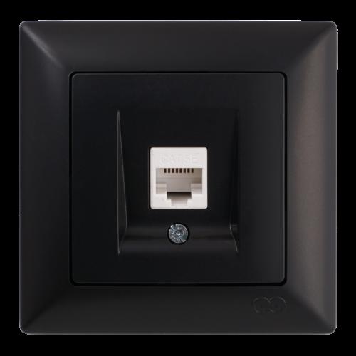 Розетка компьютерная черная Gunsan Visage (01283400-157129)