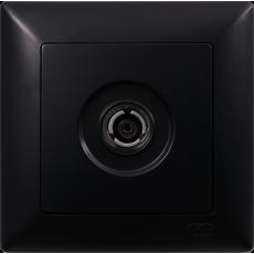 Розетка ТВ (без рамки) черный