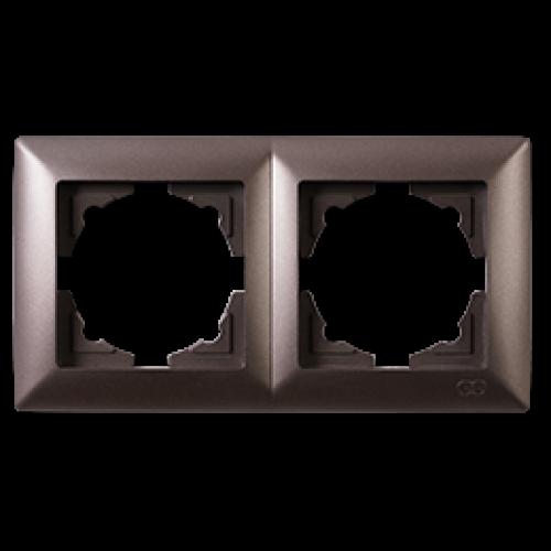 Рамка*2 антрацит  Gunsan Visage (01283500-000141)