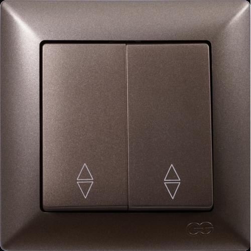 Выключатель 2-кл проходной (без рамки) антрацит Gunsan Visage (01283500-150109)