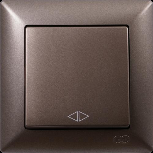 Выключатель 1-кл перекрестный (без рамки) антрацит Gunsan Visage (01283500-150135)