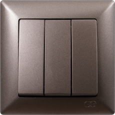 Выключатель 3-кл (без рамки) антрацит