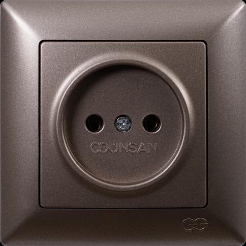Розетка (без рамки) антрацит  Gunsan Visage (01283500-151113)